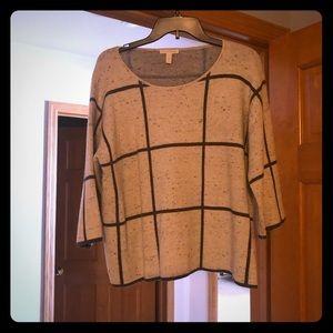 Windowpane sweater.